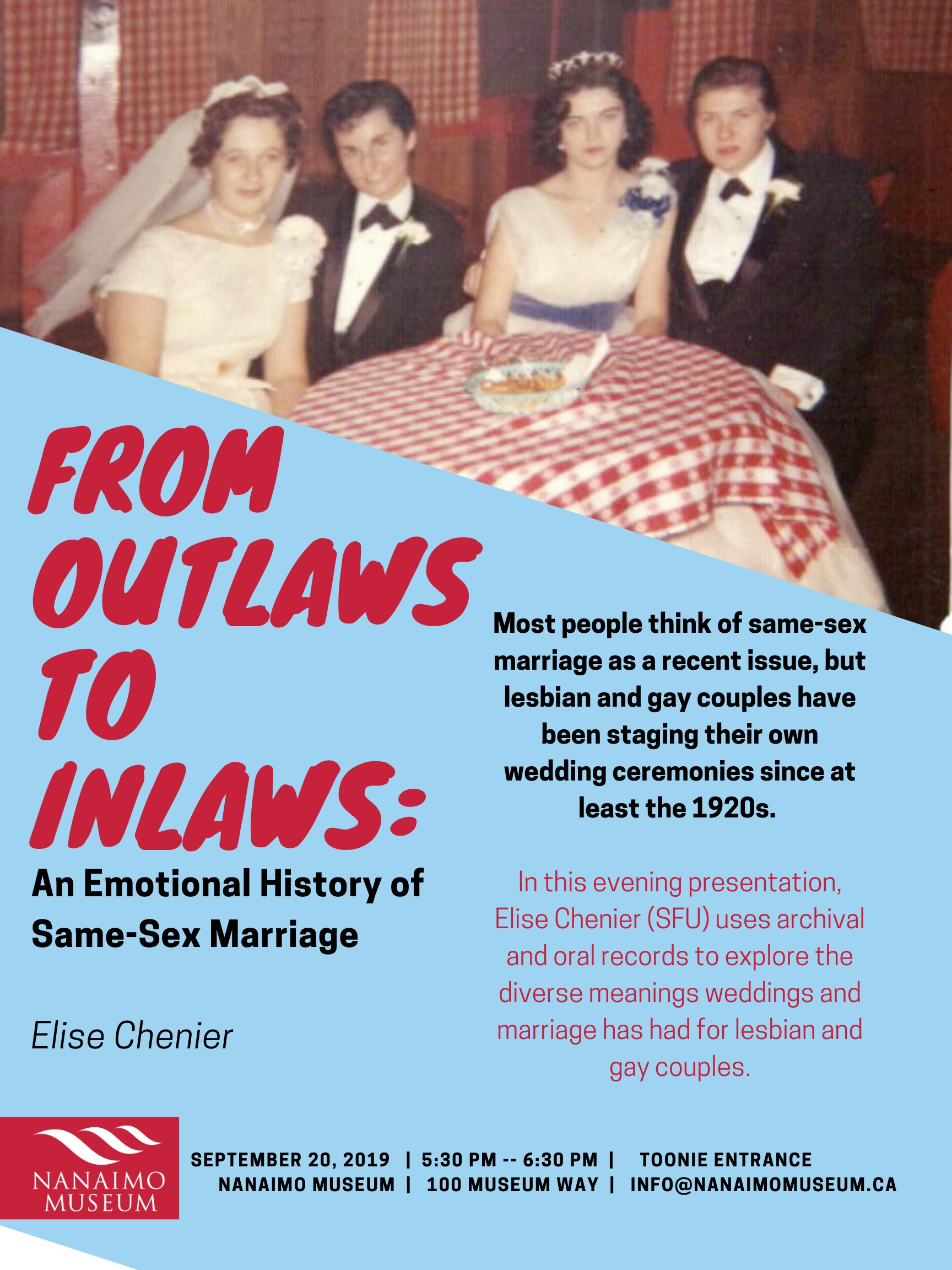 Presentation: From Outlaws to Inlaws: An Emotional History of Same-Sex Marriage