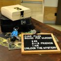 escape room style program. solve clues and puzzles to discover how the murder case ended.